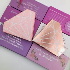 Beautiful  Pink Diamond Eyelash Pcakaging Boxes