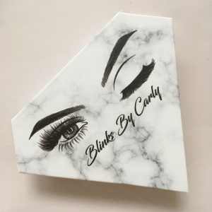 Diamond shape Private Label eyelash packaging box