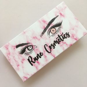 Custom Pink eyelash packaging box with Private Label