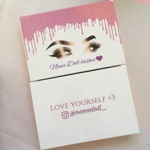 Custom eyelash packaging dripping lash boxes wholesale